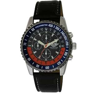 Wingmaster Herren-Armbanduhr Wingmaster gents fashion watch with decorative multi-dial. Analog Kunststoff schwarz WM.0055.6