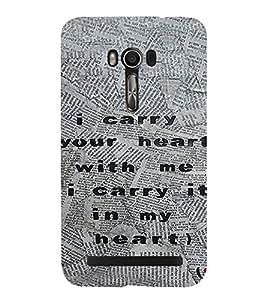 PrintVisa Quotes Design 3D Hard Polycarbonate Designer Back Case Cover for Asus Zenfone Go
