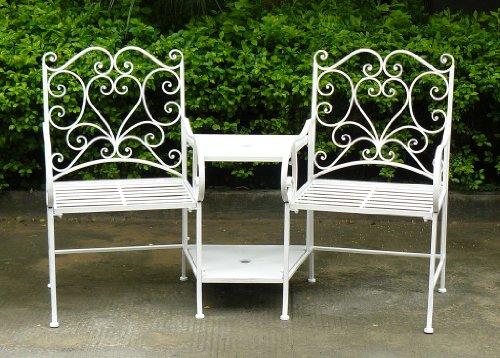 Bentley-Garden-Sitzgruppe-aus-Schmiedeeisen-Gartenmbel-Romantische-Herz-Ornamente-Wei