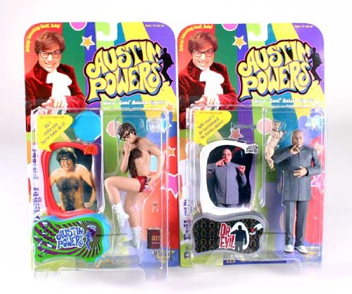 Buy Low Price Mezco Austin Powers & Dr. Evil Action Figures Set of 2 (B000R2ZRG8)