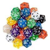 SmartDealsPro - Paquete de 10 Caras de Colores Aleatorios para Juegos de Mesa RPG MTG