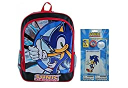 Sonic the Hedgehog Backpack with Study Kit