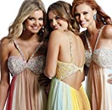Sherri Hill 7416, Stunning Long Dress With Encrusted Straps and Top - 2011 Collection