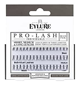 Eylure Pro Lash Individuals Combo for short, medium and long, Knot Free