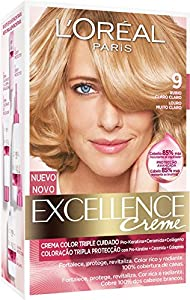 Coloración Excellence Crème Triple Protección 9 Rubio Claro de L'Oréal Paris