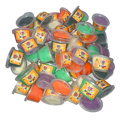 Gluten Free Play Dough Halloween Trick or Treat, 60 - 1 oz Containers of Soy-Yer Dough (Soy Play Dough compare prices)