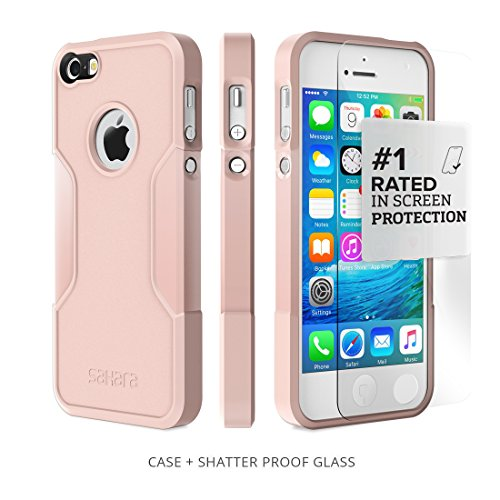 iPhone SE Case, for iPhone 5s 5 SE (Rose Gold) SaharaCase Protective Kit Bundled with [ZeroDamage Tempered Glass Screen Protector] Slim Fit Rugged Protection Case Shockproof Bumper Hard Back (Iphone5 Back Repair Kit compare prices)