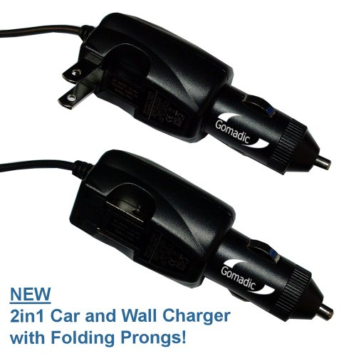 Intelligent Dual Purpose DC Vehicle and AC Home Wall Charger suitable for the Literati Color eReader - Two critical functions, one unique charger - Uses Gomadic Brand TipExchange Technology at Electronic-Readers.com