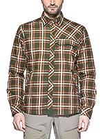 Haglöfs Camisa Hombre Tundra (Verde / Rojo)