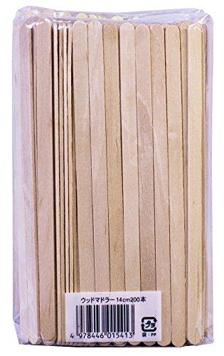 木製 コーヒーマドラー14cm 400本セット (200本入× 2個組)
