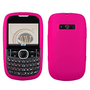 Sleeve Gel Cover Skin Case for Verizon ZTE Adamant F450 -Magenta Pink