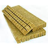 48 Rockwool Grow Cubes (1.5 Inches) - Growing Medium Starter Sheets (48 Per Pack) (Color: Brown, Tamaño: 48 Per Pack)