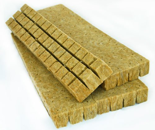 Rockwool Grow Cubes (1.5 Inches) - Growing Medium Starter Sheets (30 Per Pack)