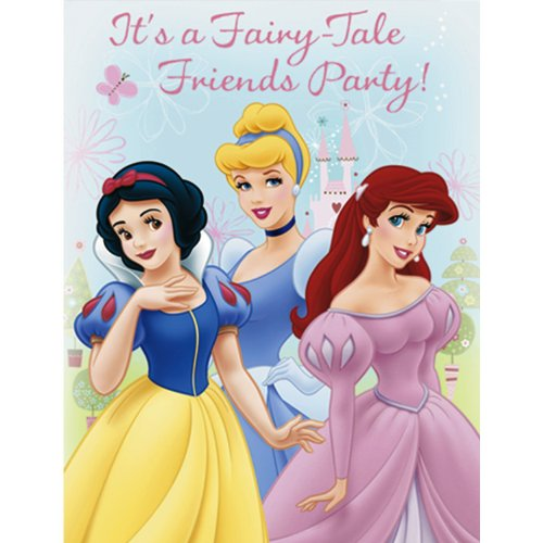 Disney Princess Invitations, 8ct - 1