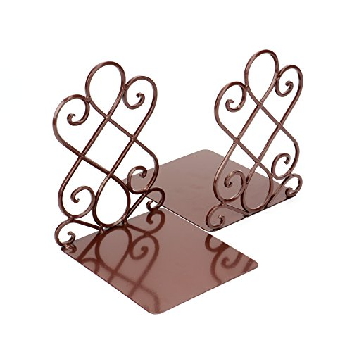 Fasmov Art Bookends,1 Pair(Brown)