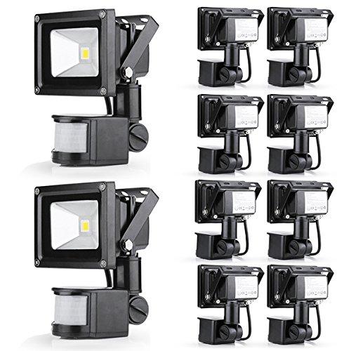 10 Pcs Popular 10W Warm White Floodlight Ac 85-265V Waterproof Led Flood Light Induction Sense Lamp front-204859