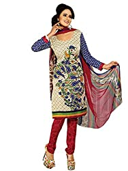 Texclusive Crepe Printed Unstitched Dress Material