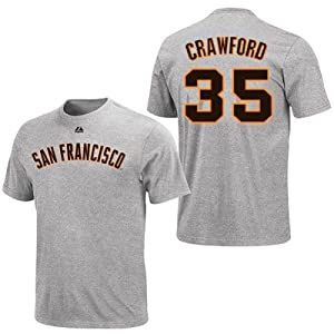 Brandon Crawford San Francisco Giants Grey Player T-Shirt by Majestic by Majestic
