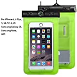 Waterproof Phone Case, Asstar Cellphone Waterproof Dry Bag Case Pouch with Compass Locate for Universal Waterproof Case for iPhone 6S SE 5S Galaxy S5 S4 S3 (Green)