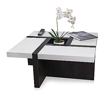 Wohnzimmer Designertisch Couchtisch Holztisch Wohnzimmertisch Beistelltisch Holz Weiß Schwarz