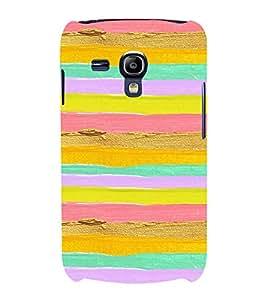MULTICOLOURED ARTISTIC OVERLAPPING WAVES PATTERN 3D Hard Polycarbonate Designer Back Case Cover for Samsung Galaxy S3 Mini :: Samsung Galaxy S3 Mini i8190