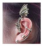 Gothic Earring Classic Dragon Ear Wrap Cuff Earring Punk Rock Left Ear