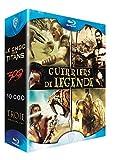 Image de Coffret guerriers de légende - Le choc des titans + 300 + 10 000 + Troie [Blu-ray]