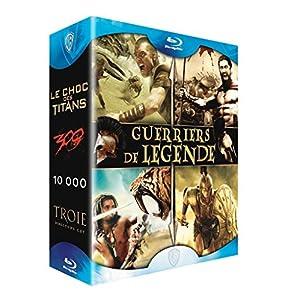 Coffret guerriers de légende - Le choc des titans + 300 + 10 000 + Troie [Blu-ray]