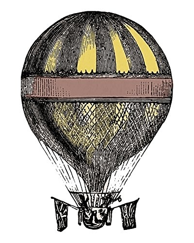 11x14 Hot Air Balloon Art Print Poster, Victorian Era Scientific Illustration, Elegant Fine Art Archival Printon Luxurious Paper. Old World Charm Illustration for the Home. Size: 11x14 Inches
