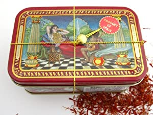 Pure Spanish Saffron Mancha Threads 1 Ounce Tin from Alma Gourmet