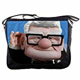 Up Movie Disney Pixar Carl Fredericksen the Grumpy Old Man Messenger Shoulder Bag