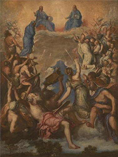High Quality Polyster Canvas ,the High Quality Art Decorative Prints On Canvas Of Oil Painting 'After Titian - The Trinity (La Gloria),late 17th Century', 24x32 Inch / 61x81 Cm Is Best For Garage Artwork And Home Artwork And Gifts