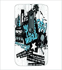 PRINTSWAG TYPOGRAPHY Designer Back Cover Case for MOTOROLA MOTO G3