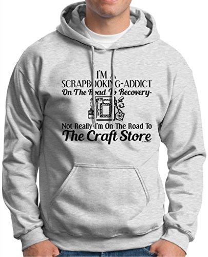Scrapbook Addict On The Road To Recovery Craft Store Premium Hoodie Sweatshirt Medium Ash