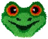 M C G Textiles 13 x 11 inch Huggables Frog Pillow Latch Hook Kit