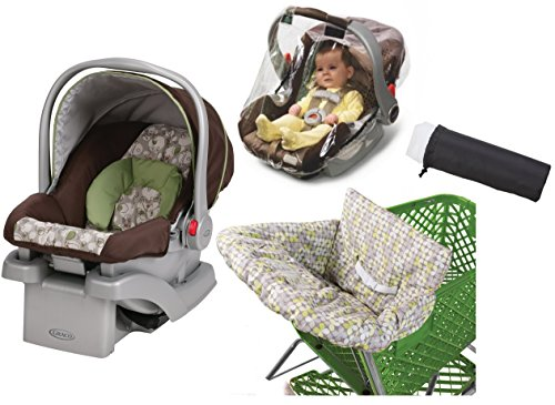 Graco SnugRider Click Connect 30 Infant Car Seat with Weather Shield, Insect Netting & Multi-Use Cover, Zuba (Graco Snug Ride Car Seat Cover compare prices)