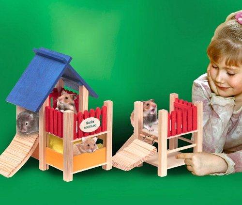 Artikelbild: Karlie Groáer Spielplatz mit H'ngebrcke, Nagerspielplatz