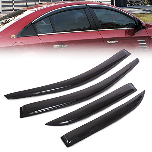 Micropower Vent Window Visors Shades Smoke Sun Rain Wind Guards For 08-13 Chevy Cruze 4 Door (Chevy Cruze Air Vent compare prices)