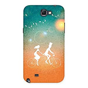 Cute Cycle Couple Dream Multicolor Back Case Cover for Galaxy Note 2