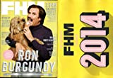 FHM Magazine January 2014 Ron Burgundy + FHM 2014 Calendar fhm