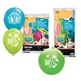 Pioneer National Latex Teen Beach Movie Party Pack (6 Balloons/4 Punch Balls)