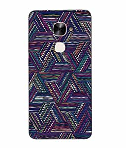 Snazzy Abstract Printed Multicolor Hard Back Cover For Letv Le Eco Le 2