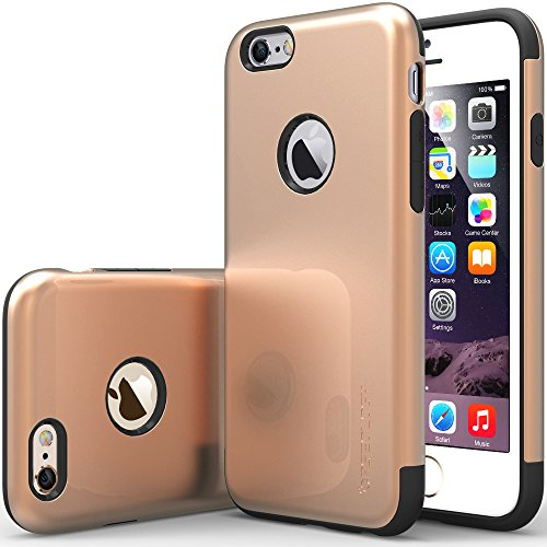 """Iphone 6 Case, Caseology [Dual Layer] Apple Iphone 6 (4.7"""" Inch) Case [Champagne Gold] Premium Slim Fit Impact Resistant Protective Armor Rugged Hard Iphone 6 Case [Made In Korea] (For Apple Iphone 6 Verizon, At&T Sprint, T-Mobile, Unlocked) front-301106"""