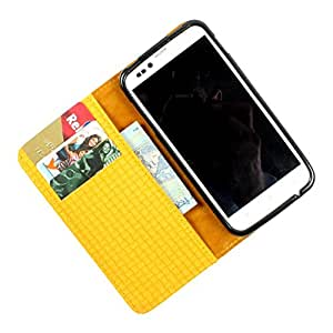 For Karbonn A35 - PU Leather Wallet Flip Case Cover