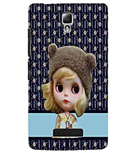 PrintDhaba Cute Doll D-3783 Back Case Cover for LENOVO A2010 (Multi-Coloured)