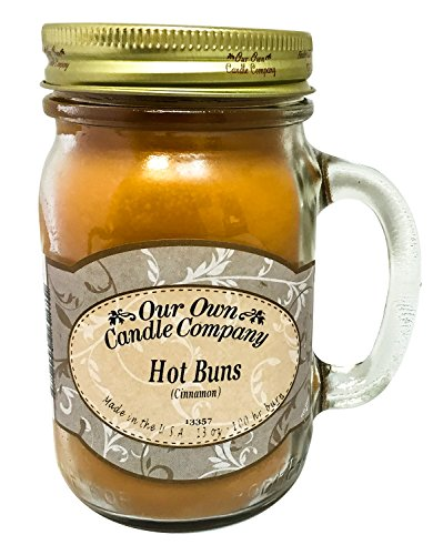Cinnamon Hot Buns Scented 13 oz Mason Jar Candle – Made in the USA by Our Own Candle Company