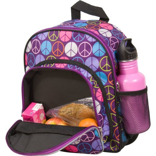 Wildkin Peace Signs Purple Pack N Snack Color: Purple Toy, Kids, Play, Children front-729411