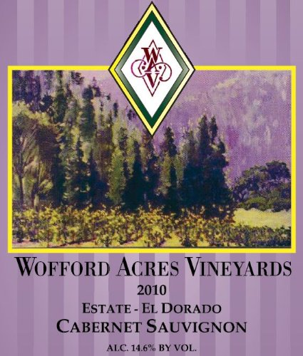 2010 Wofford Acres Vineyards Estate Cabernet Sauvignon, El Dorado 750 Ml