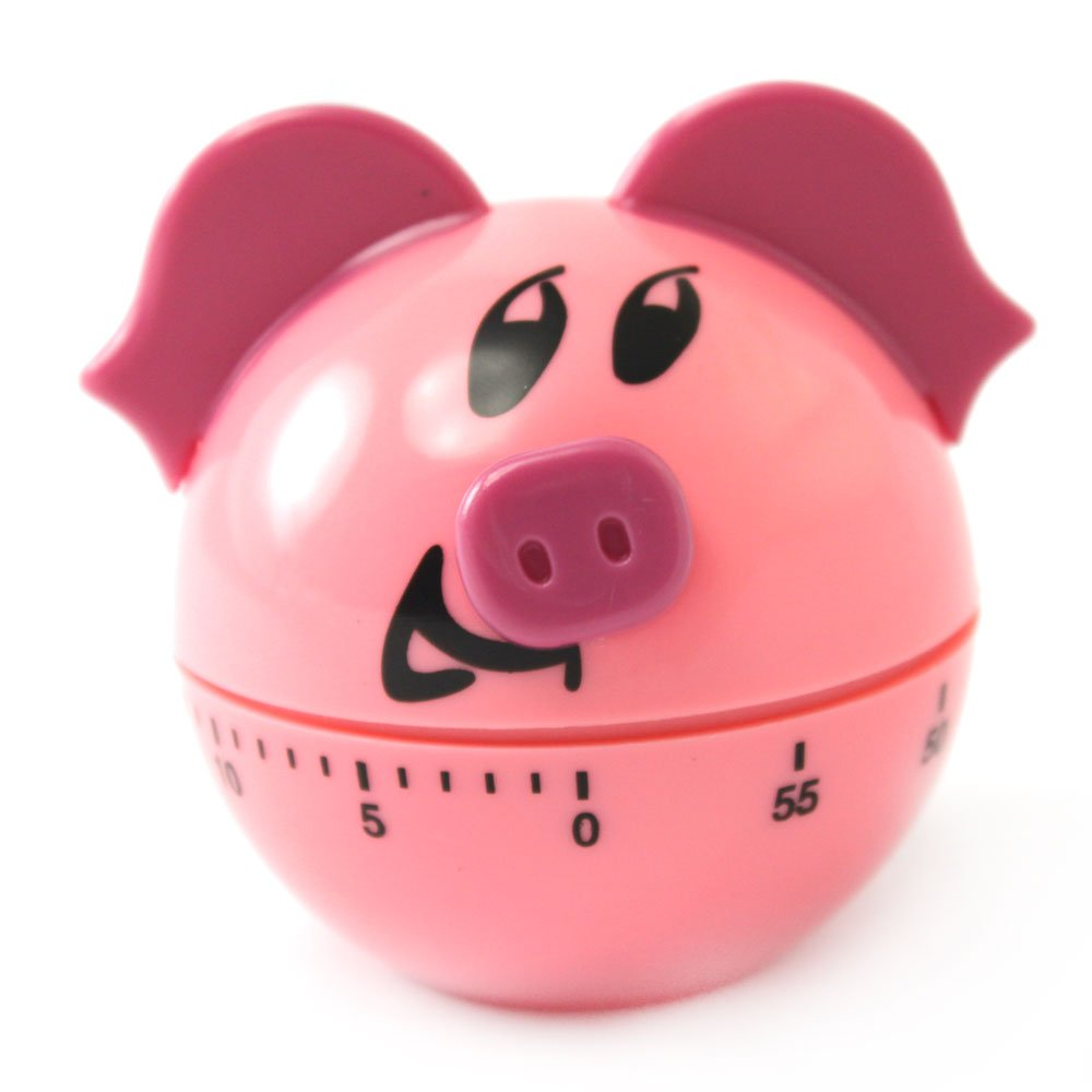 Plastic Pig Shape 60 Minute Kitchen Cook Cooking Timer Pink tomato kitchen mechanical timer