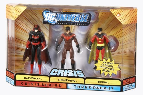 Picture of Mattel DC Universe 75th Anniversary Infinite Heroes Batwoman, Robin, Nightwing Figures (B001O2S6UE) (Mattel Action Figures)